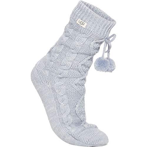 UGG Women's Pom Fleece Lined Crew Sock, Fresh air, O/S