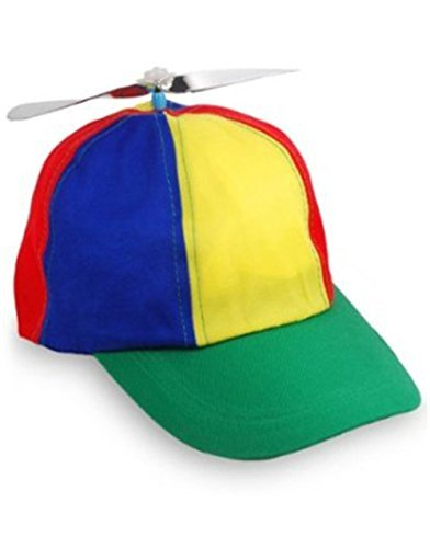 Child Propeller Beanie Multi Colored Baseball Hat - Rainbow Top Hat