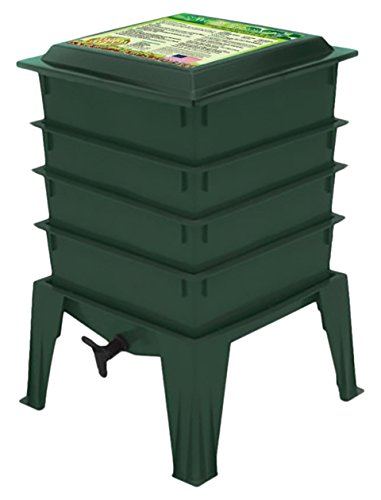 Nature's Footprint- Worm Composter, Green/Terracotta/Black Color