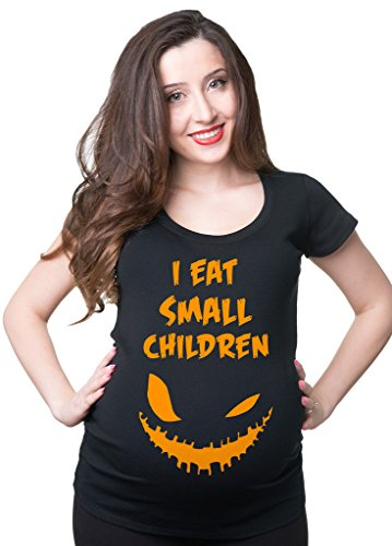 Silk Road Tees Halloween Maternity T-Shirt Funny Halloween Costume Pregnancy Top Large Black for $<!--$21.99-->