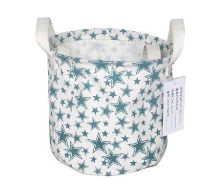Premium Decor Fabric Foldable Canvas Laundry Basket Hamper Closet Storage Bin Bag Tote (FLB-093) (Wicker Laundry Baskets Cheap)