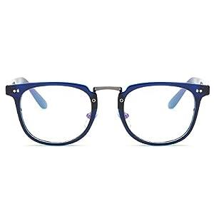 Amomoma Square Reading Glasses Optical Frame Clear Lens Eyewear Eyeglasses AM5021 C9 Blue