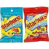 Starburst Gummiburstst 6oz Bags 2 Pack 1 Original And 1 Flavor Duos Combo Bundle Peg Bags