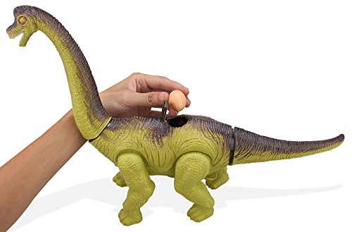 Top Race Blowout Sale! Laying Egg Dinosaur, Battery Powered Sounds and Lights ()