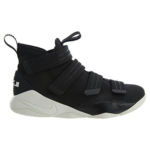 Nike Herren Lebron Soldier 10 Basketballschuhe Schwarz / Racer Blau / Segel