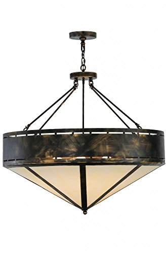(Meyda Tiffany 140868 Craftsman Prime Inverted Pendant Light Fixture, 36
