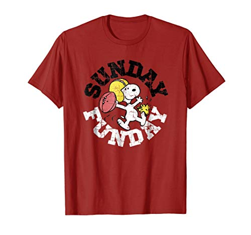 Peanuts Sunday Football T-shirt for Adult and Youth