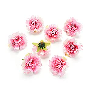 Fake flower heads in Bulk Wholesale for Crafts Peony Flower Head Silk Artificial Flowers for Wedding Decoration DIY Party Home Decor Decorative Wreath Fake Flowers 30 Pieces 4.5cm (Pink) 97