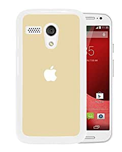 Simple Gold Apple Logo (2) Durable High Quality Motorola Moto G Phone Case