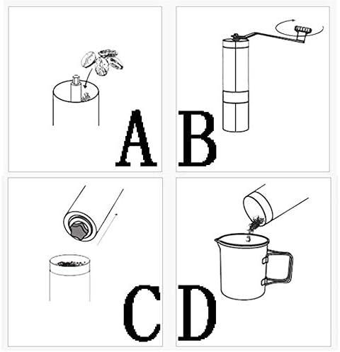 ZGYQGOO Macinacaffè Portatili Mini macinacaffè Manuale in Acciaio Inossidabile Fatto a Mano Macinacaffè macinacaffè Utensili da Cucina