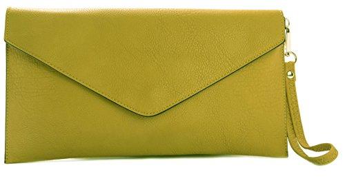 Craze jaune pour Beige Beige Pochette femme London 1RFqwv41xH