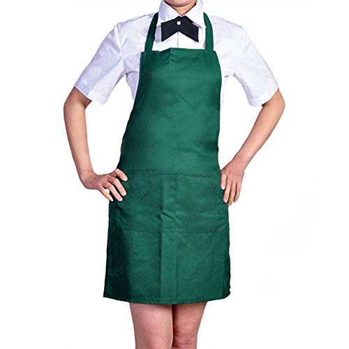 Apron With Front Pocket (Blackish Green) - 1