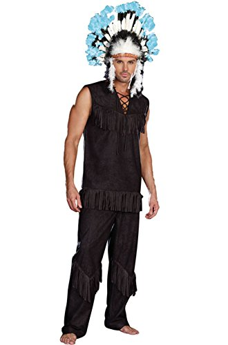 Mememall Fashion Native American Indian Chief Wansum Tail Adult Halloween Costume (Chief Indian Princess Costume)