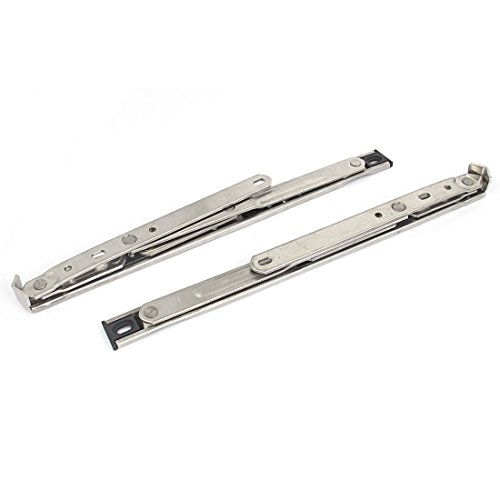 4 Bar Hinge Truth Hardware - uxcell 12-inch Stainless Steel Side Hung Window Friction Hinges Stays 2PCS