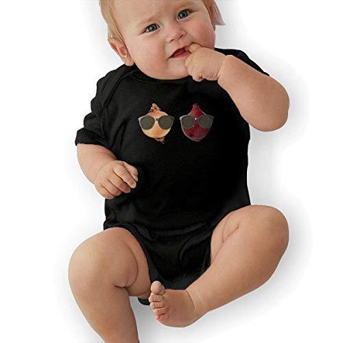 sport outdoor 003 Onions Wearing Sunglasses Cotton Baby Bodysuit Onesies Infant Short-Sleeve Unisex Black -