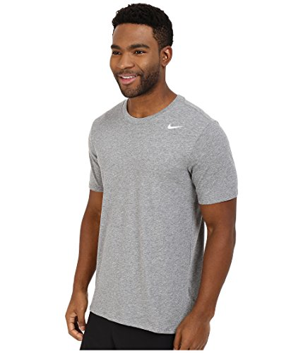NIKE Men's Dri-FIT Cotton 2.0 Tee, Carbon Heather/Carbon Heather/White, Small by Nike (Image #2)
