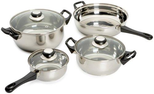 KittAmor Roma Stainless Cookware Set, 7-Piece