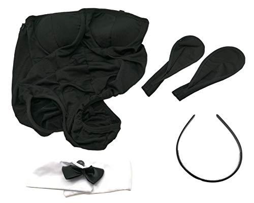 SUKRAGRAHA Cosplay Kawaii Bunny Rabbit Girl Outfit Costume Set Black