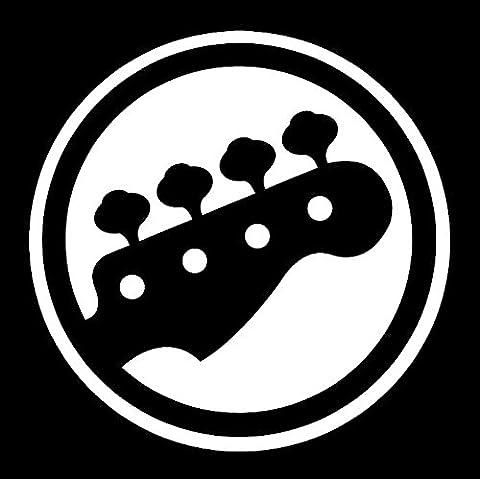 Bass Guitar Player Vinyl Car Window Decal Sticker White (Decal Stickers Guitar)