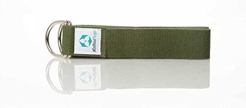 #DoYourYoga Cinturón de Yoga »Madira« / Correas para Yoga de algodón 100% con Cierre en Forma de Anillas metálicas / 250 x 3,8 cm