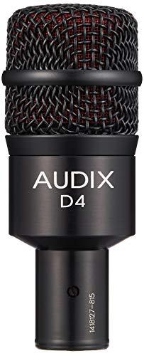 - Audix D4 Dynamic Microphone, Hyper-Cardioid