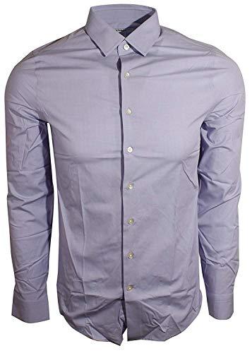 Express Men's Fitted Buttondown Shirt (Large, Light Purple) -