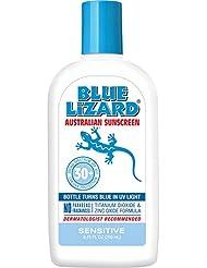 Blue Lizard Australian Sunscreen - Sensitive Sunscreen SPF 30+ Broad Spectrum UVA/UVB Protection - 8.75 oz Bottle