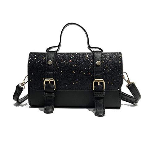 Black Fourre Bandoulière tout À Femmes Mzdpp Design Sac Femme Glitter match Paillettes All Mode Main Pu xwvqZ0FHf