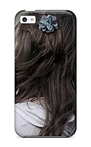 5c Scratch-proof Protection For Iphone/ Hot Flowers Hairstyling Phone Case