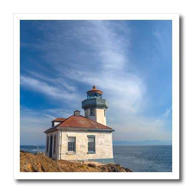 3dRose Danita Delimont - Lighthouses - Washington, San Juan Island, Lime Kiln Point Lighthouse. - 6x6 Iron on Heat Transfer for White Material (Lime Kiln Lighthouse)