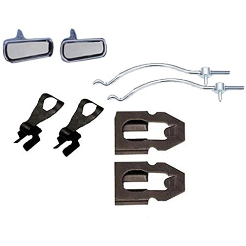 Eckler's Premier Quality Products 25324279 Corvette Handle Kit Outside With Rods And Clips by Premier Quality Products