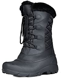 Women's North Faux Fur Mid Calf Winter Snow Boots