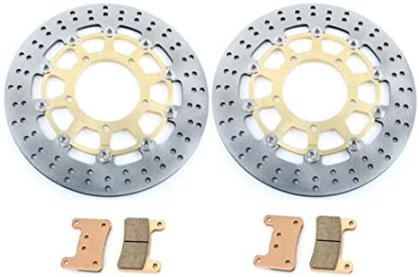 Tarazon Rund Paar Bremsscheiben Beläge Vorne Für Suzuki Gsx R Gsxr 600 750 K6 K7 2006 2007 Gsx R 1000 K5 K8 2005 2008 Auto
