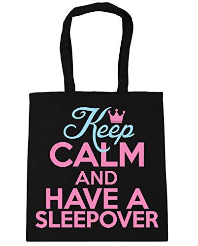 10 Bag Black 42cm x38cm sleepover and have calm HippoWarehouse Shopping Keep Beach Tote Gym a litres 1vw4ZOq
