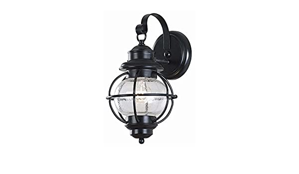 Home Decorators Collection Greer 1 Light Black Exterior Wall Lantern Small Lamps Lighting Ceiling Fans Wall Fixtures