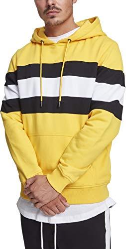 chromeyellow black 01565 Cappuccio Hoodie Uomo Multicolore Chest Classics white Urban Striped Fqwv40U8