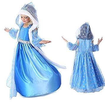 Amazon.com: LYQYJF Vestido Elsa para bebés y niñas, vestido ...