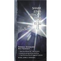 KJV Share Jesus Without Fear New Testament, Black Bonded Lea