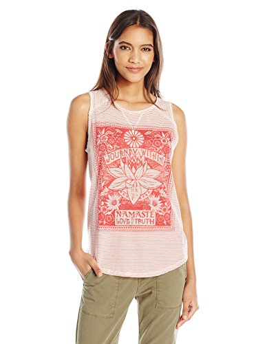 Lucky Brand Women's Striped Matchbox Tank Top, Red/Multi, Small