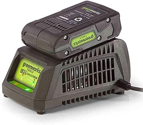 Greenworks 2913907 Cargador Universal 24 V, Verde