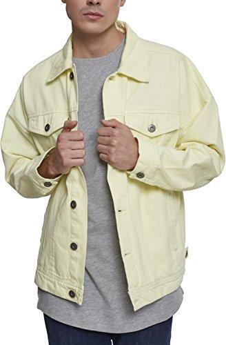 Amarillo Chaqueta Hombre Garment Urban Oversize 01323 Yellow Vaquera Dye Jacket Powder Classics para SOXqz