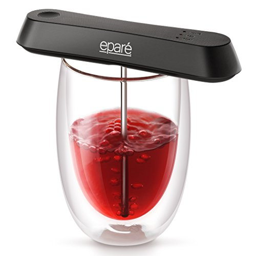 Eparé Pocket Wine Aerator - Travel Decanter for a Glass Pour – Modes for Red White or Port Liquor Bottle - Featured in Good Housekeeping Holiday Gift Guide