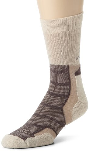 (Thorlos Experia Unisex XWXU Multi-Sport Thin Padded Crew Sock, Khaki, Medium)