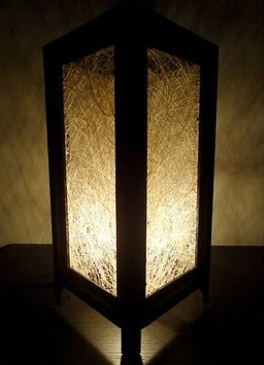Thai Vintage Handmade ASIAN Oriental White Natural Fiber Bedside Floor or Table Lamp Lighting Shades by Thai Lanna Lump