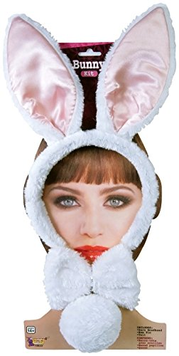 Forum Novelties Women's Bunny Accessory Kit, White/Pink, One Size