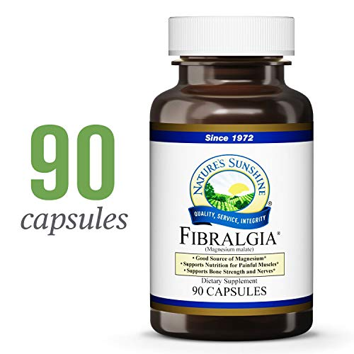 Nature's Sunshine Fibralgia, 90 Capsules   Formulated to Help The Structural System, Provide Magnesium, Support Bone Strength, and Regulate Nerve Impulses