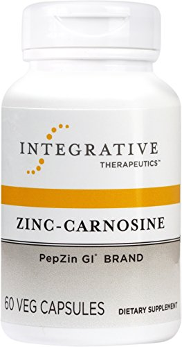 Integrative Therapeutics - Zinc-Carnosine - PepZin GI Brand - Supports Healthy Gastrointestinal Lining & Relieve Gastric Discomfort - 60 (Intestinal Permeability Support)