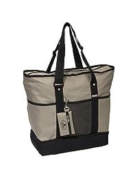 Everest Luggage Deluxe Shopping Tote, Khaki/Black, One Size