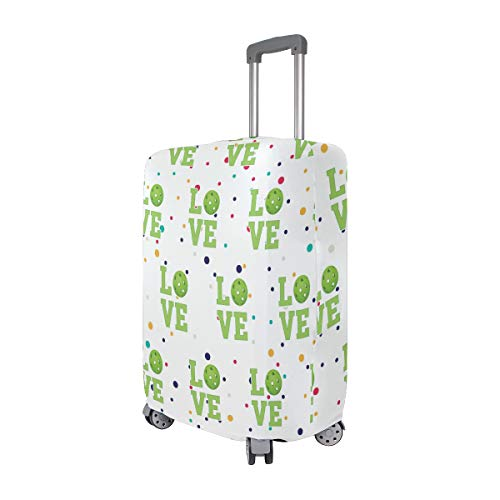 Love Pickleball Travel Luggage Cover - Suitcase Protector HLive Spandex Dust Proof Covers with Zipper, Fits 18-32 inch by HLive (Image #1)