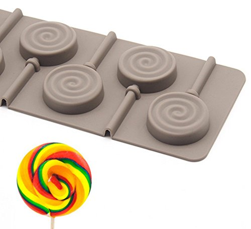 LFHT Silicone Hard Candy Lollipop Molds Chocolate Fondant Mould for Cake Decorations 2 Pcs